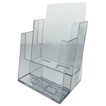 clear acrylic 2 tier 6 x 9 bi fold brochure holder dazzling