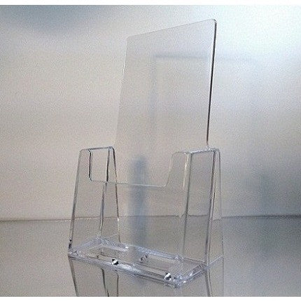"Clear Acrylic 4"" x 9"" Tri-Fold Brochure Holder"