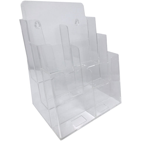 "Clear 3-Tier 8.5"" x 11"" Full-Page or 4"" x 9"" Tri-Fold Convertible Brochure Holder"