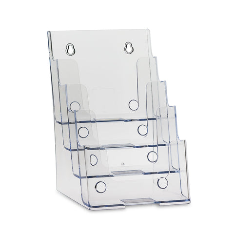 "Clear 4-Tier 6"" x 9"" Bi-Fold Brochure Holder"