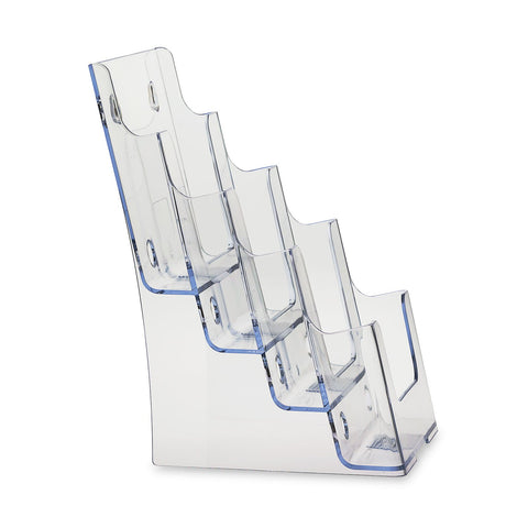 Clear 4-Tier 6 x 9 Bi-Fold Brochure Holder