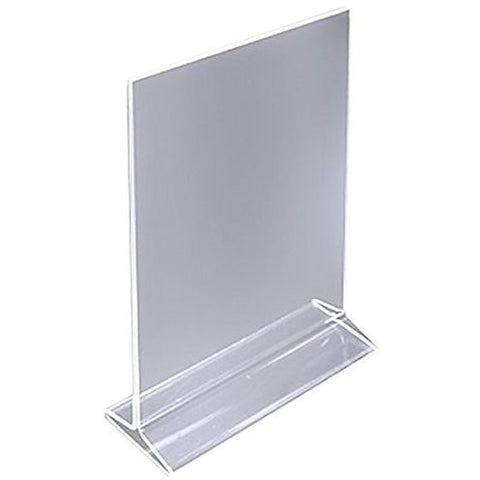 "Acrylic 5"" x 7"" Top Load Sign Holder"