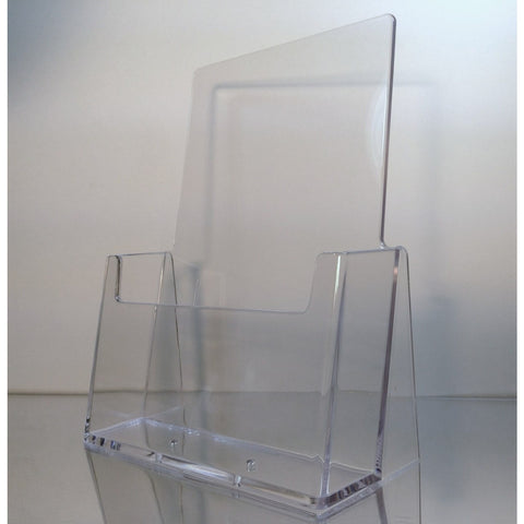 "Clear 5.5"" x 8.5"" Bi-Fold Countertop Brochure Holder"