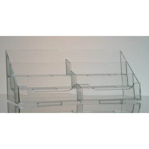 Six-Pocket Clear Acrylic Countertop Business Card Holder
