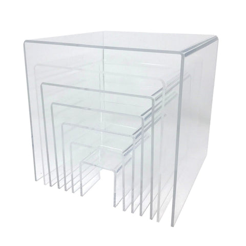 Square Acrylic Riser Displays