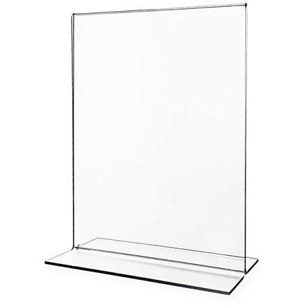 """11""""W x 14""""H Ad Display Frame Double-sided Table Tent Sign Holder Clear Acrylic"""