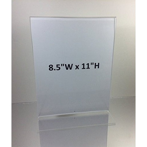"Bottom Load 8-1/2"" x 11"" Sign Holder"