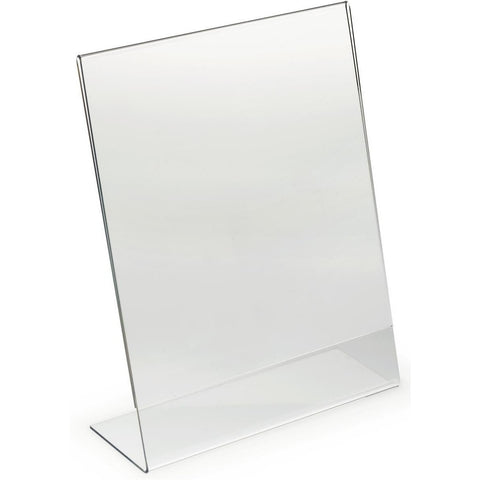 "Acrylic 8-1/2"" x 11"" Slanted Sign Holder"