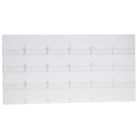 Clear Acrylic 24-Pocket Wall-Mount Business Card Holder