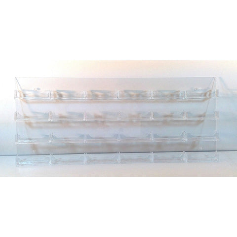 24-Pocket Clear Acrylic Wall-Mount Business Card Holder