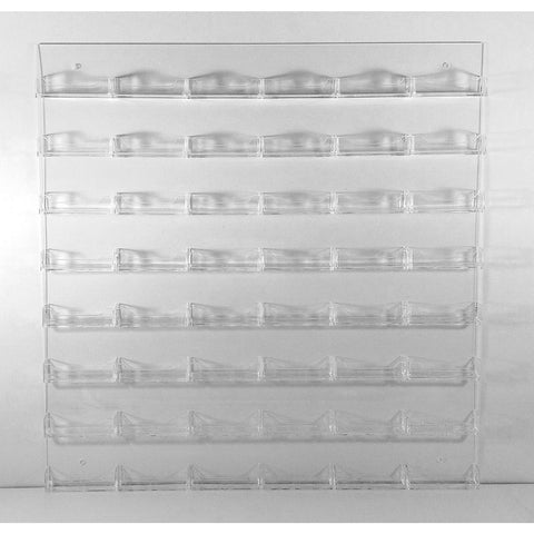 48-Pocket Clear Acrylic Wall-Mount Business Card Holder