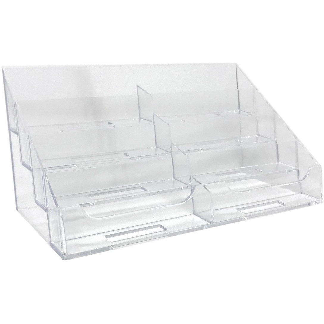 sneakers for cheap a5028 ce208 Clear Acrylic 8-Pocket Countertop Business Card Holder
