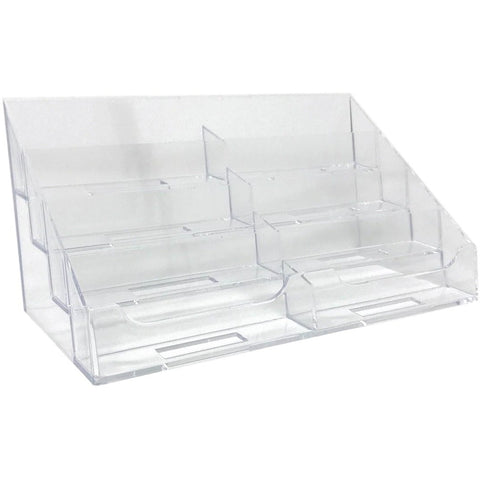 8 Pocket Business Card Holder Stand Gift Appointment Cards Organizer Display