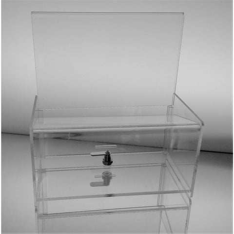 Clear Acrylic Easy Drop Donation Box