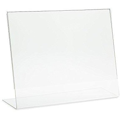 "Acrylic 6"" x 4"" Slanted Sign Holder"