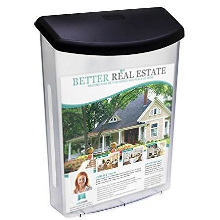"Outdoor Brochure Holder for 8.5"" X 11"" Literature with Hinged Top"