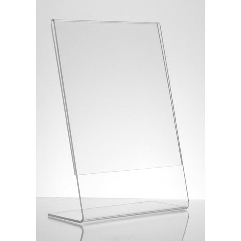 "Acrylic 4"" x 6"" Slanted Sign Holder"