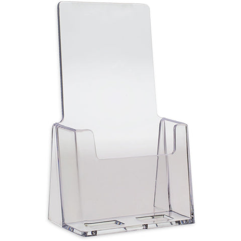 "Clear 4"" x 9"" Tri-Fold Brochure Holder"