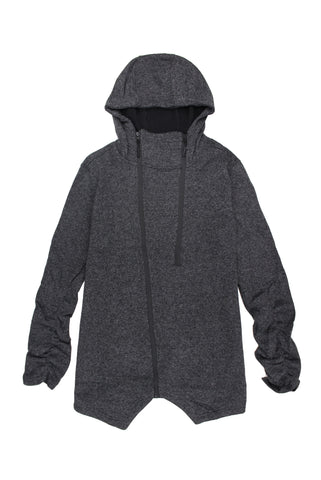 Charcoal Double Zip Hoodie - American Stitch