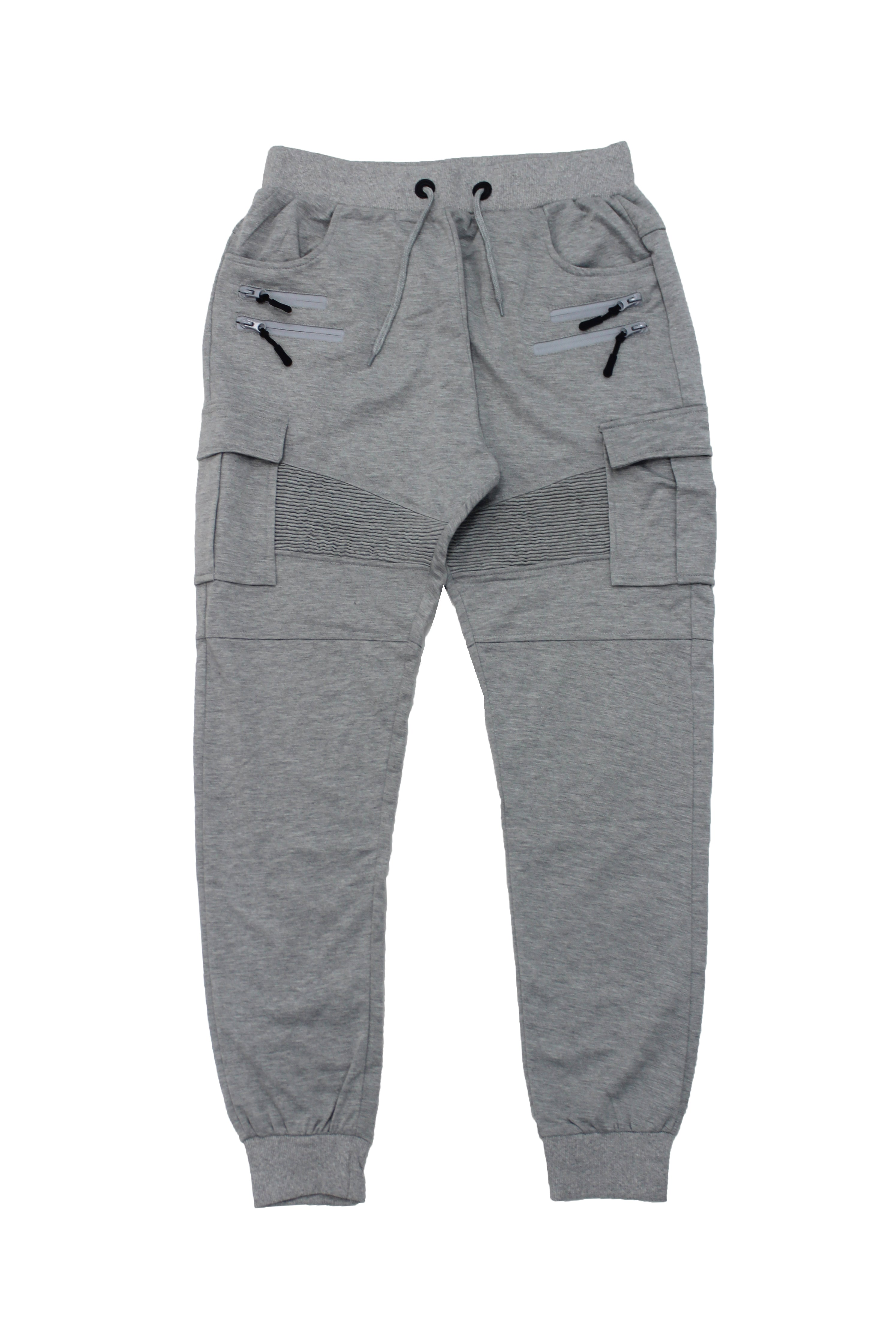 Grey Double Zip Cargo Jogger - American Stitch