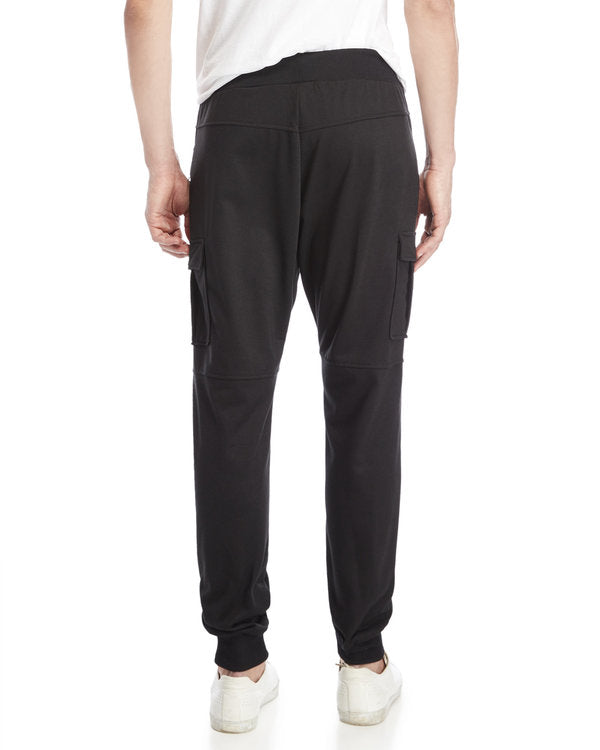 Black Double Zip Cargo Jogger - American Stitch