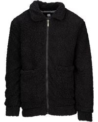 Black Sherpa Zip Jacket