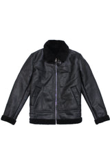 Black Biker Jacket - American Stitch