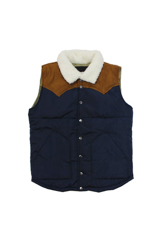 Two Tone Suede Collar Vest