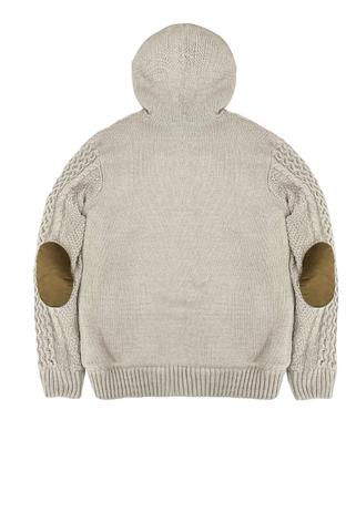Cream Cable Hoodie