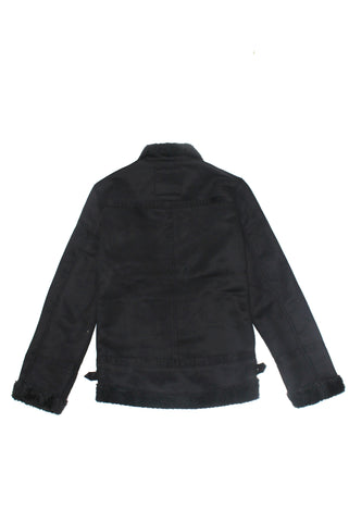 Black Leather Zip Jacket - American Stitch