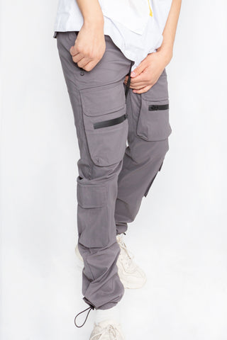 Grey Front Pockets Jogger