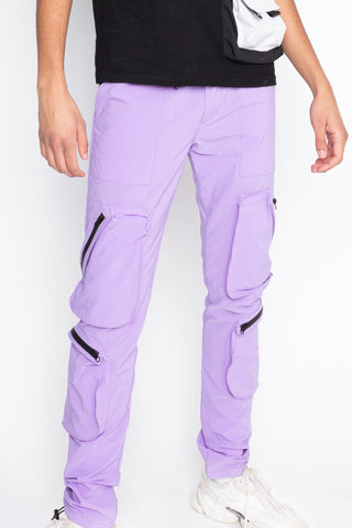Purple Water Zip Jogger