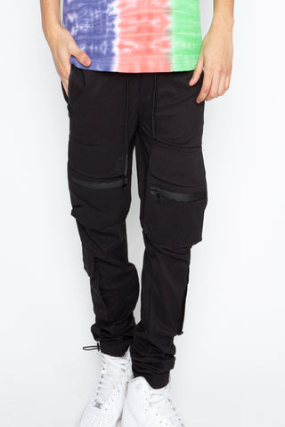 Black Front Pockets Jogger