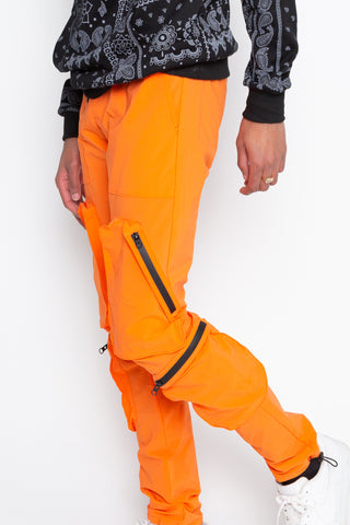 Orange Water Zip Jogger