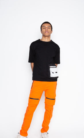 Orange Front Pockets Jogger