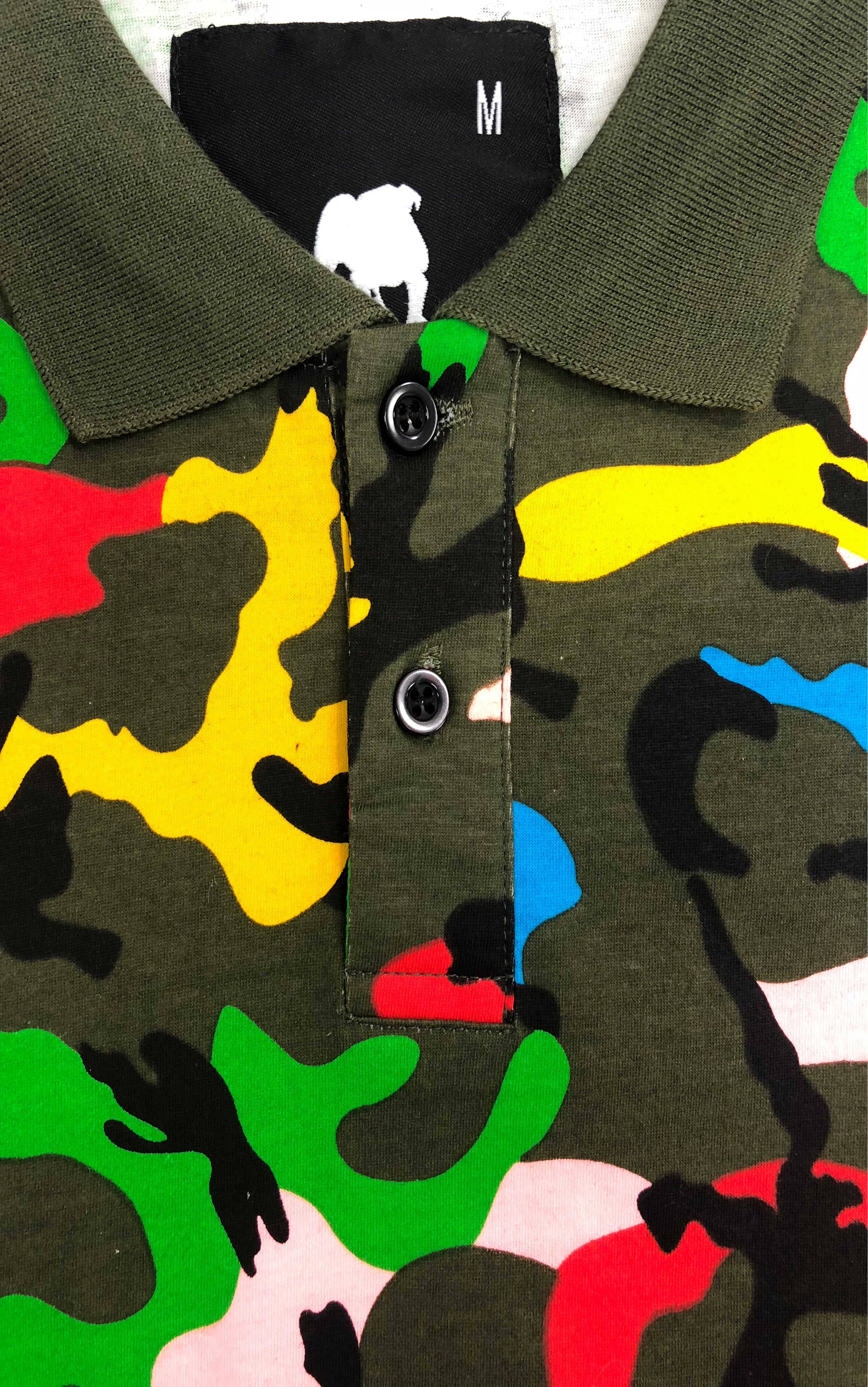 Multi-Color Camo Polo