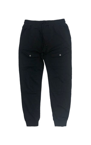 Front Cargo Jogger – Black