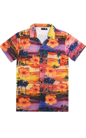 Aloha Hawaiian Tee – Orange