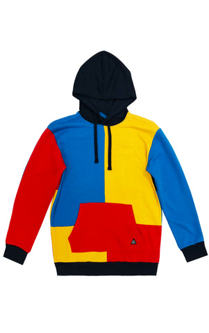 Patchwork Hoodie – Yellow/Combo