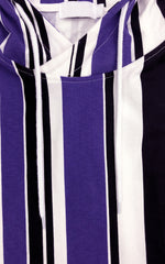 Striped Tee Hoodie - Purple/Combo