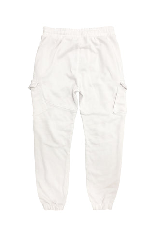 Cargo Pocket Ft Jogger-White