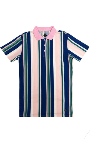 Striped Multi Color Polo – Pink/Combo