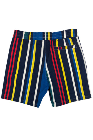 Multi Stripe Short-Blue/Red Combo