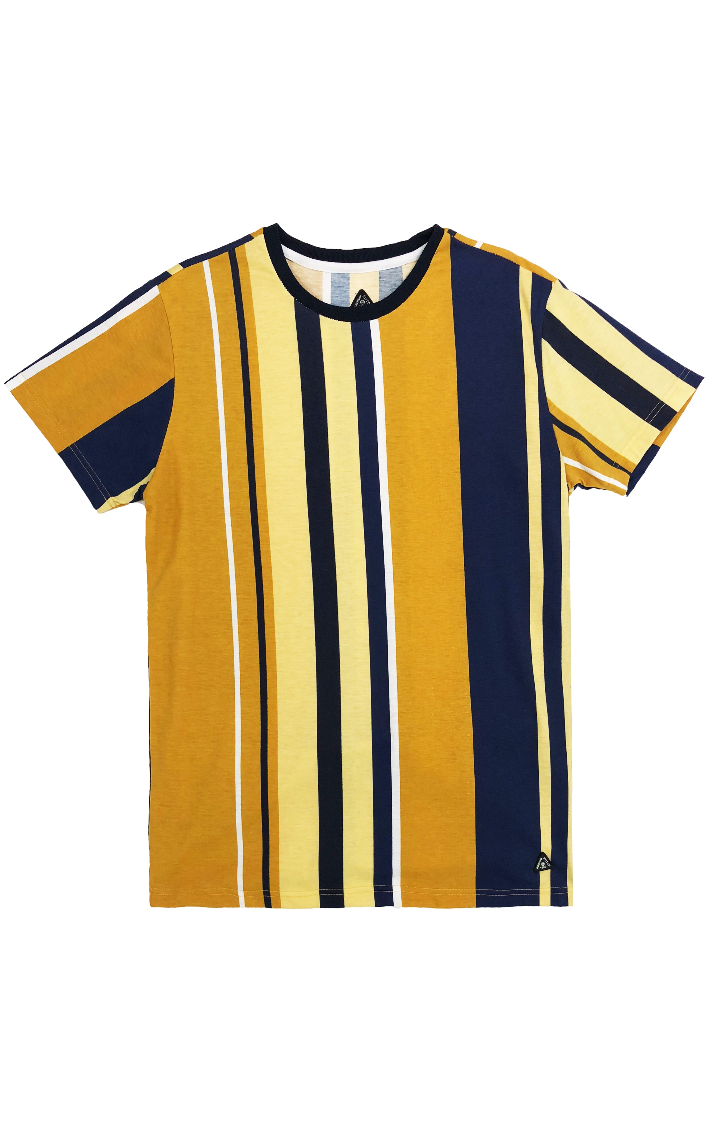 Striped Multi Color Tee – Yellow/Combo
