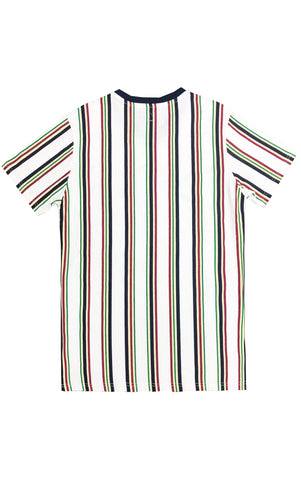 Striped Multi Color Tee – White/Combo