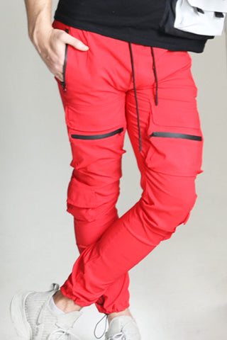 Red Front Pockets Jogger