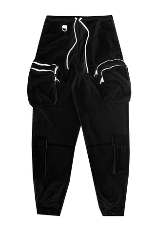 Black Double Pocket Jogger
