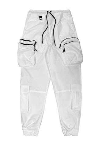 White Double Pocket Jogger