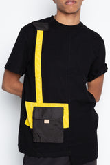 Black One Pocket Tee