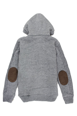 Grey Zip Knit - American Stitch